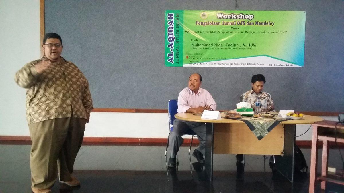 Workshop Pengelolaan Jurnal OJS